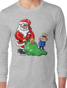 Santa Claus and Good Boy Long Sleeve T-Shirt