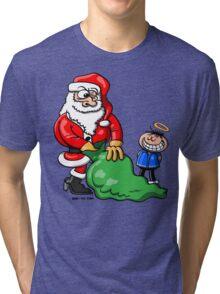 Santa Claus and Good Boy Tri-blend T-Shirt