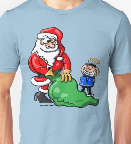 Santa Claus and Good Boy Unisex T-Shirt