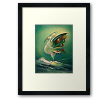 The Bird of Happiness on the Wave of Success! Framed Print