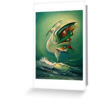 The Bird of Happiness on the Wave of Success! Greeting Card