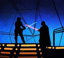 STAR WARS! Luke vs Darth Vader  by GannucciArt