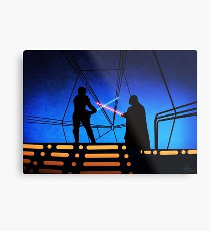 STAR WARS! Luke vs Darth Vader  Metal Print