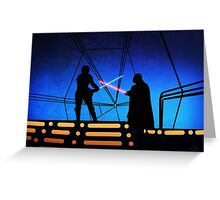 STAR WARS! Luke vs Darth Vader  Greeting Card