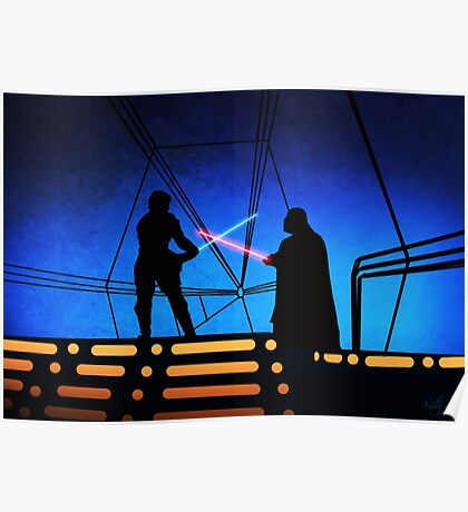 STAR WARS! Luke vs Darth Vader  Poster