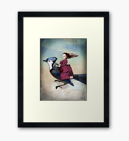 On sundays she always flies out Framed Print