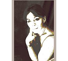 highlighted play portrait Photographic Print