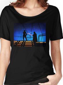 STAR WARS! Luke vs Darth Vader  Women's Relaxed Fit T-Shirt