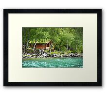 Living at the Water's Edge in Skjolden, Norway Framed Print
