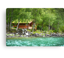 Living at the Water's Edge in Skjolden, Norway Canvas Print