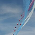 Red Arrows Smoke by Natalie Threadingham