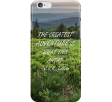 The greatest adventure 2 iPhone Case/Skin