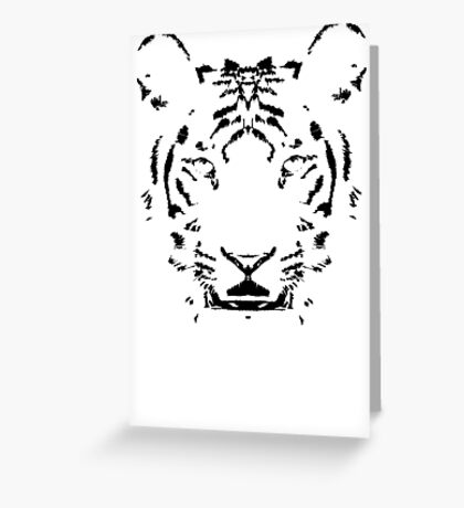 Rorscach Tiger Greeting Card