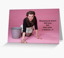 Vintage Housework? Greeting Card