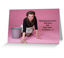 Vintage Housework? Greeting Card