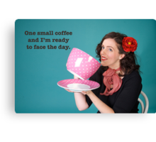 Small Coffee poster Canvas Print