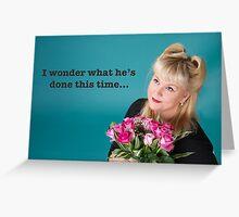 Vintage Flowers Poster Greeting Card