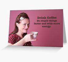 Vintage Stupid things Poster Greeting Card