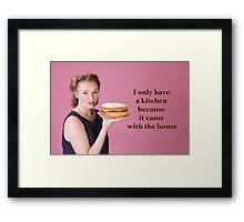 Vintage Kitchen Poster Framed Print