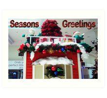 Christmas at the Mall Art Print