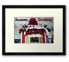 Christmas at the Mall Framed Print