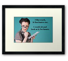 Vintage Work Poster Framed Print