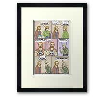 Look at them, with their haircuts and their stupid clothes... Framed Print
