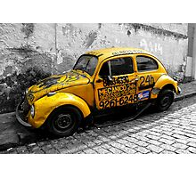 VW BEETLE, YELLOW - RIO Photographic Print