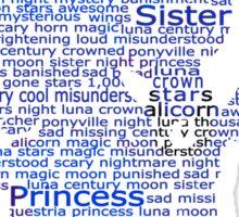 My Little Pony - Luna Typography Sticker