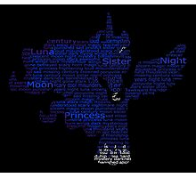 My Little Pony - Luna Typography Photographic Print