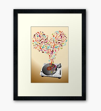 Music lovers - abstract poster Framed Print