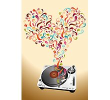 Music lovers - abstract poster Photographic Print