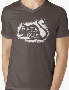 Rats Rule Mens V-Neck T-Shirt
