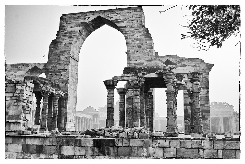 The ruins in the Qutb Complex, India by Neha Singh