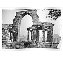 The ruins in the Qutb Complex, India Poster