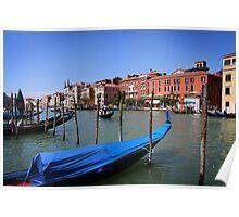 Gondolas on Gran Canal, Venice Poster