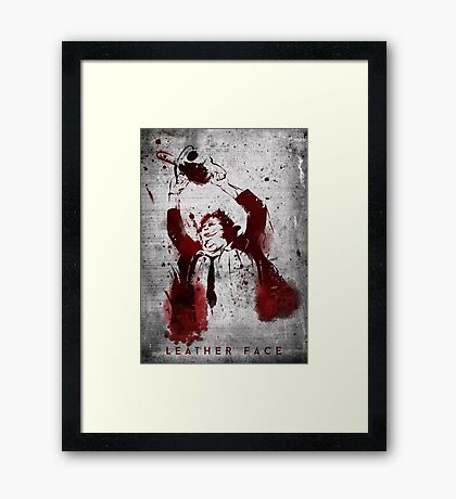 Leatherface - Chainsaw Massacre Framed Print