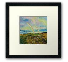 Scotland Double Rainbow Framed Print
