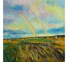 Scotland Double Rainbow Photographic Print