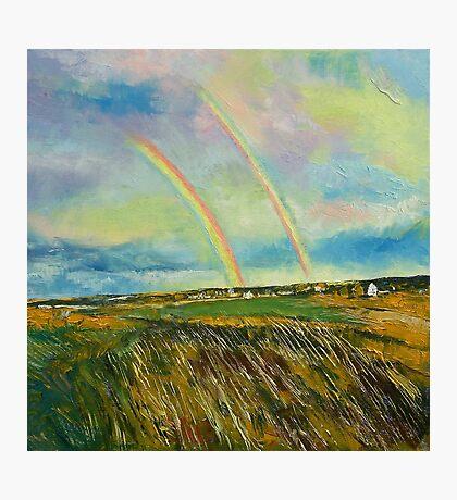 Scotland Double Rainbow Photographic Print