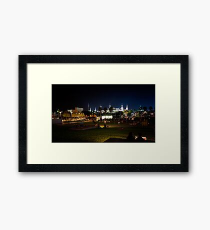 Lights on Tampa - Interactive Framed Print
