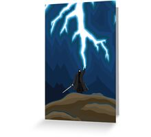 Lightening Man Greeting Card