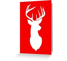 White Deer Greeting Card