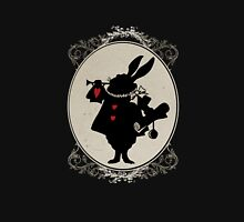 Alice in Wonderland White Rabbit Oval Portrait Unisex T-Shirt