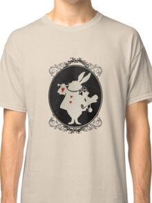Alice in Wonderland White Rabbit Oval Portrait Classic T-Shirt