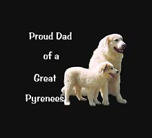 Great Pyrenees Proud Dad drk Unisex T-Shirt