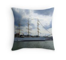 In The Gothenburg Harbour Throw Pillow