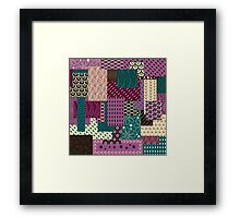 Blueberry Ice Cream Pattern Framed Print