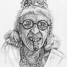 Portrait Old Lady from Cuba by Nicole Zeug