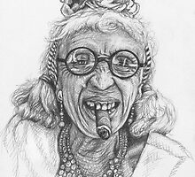 Portrait Old Lady from Cuba by Nicole Zeug